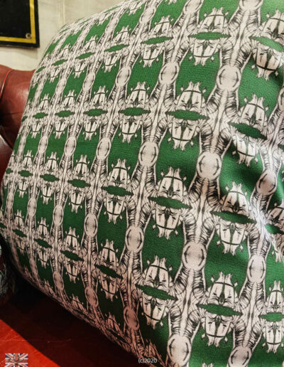 TGG Designer Fabric Cushions Edwardian Green